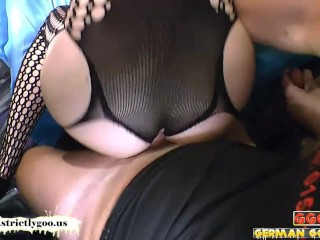 Babes Fucked Side by Side sharing cum – German Goo Girls