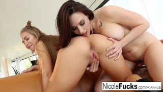 Nicole and Chanel fuck each other like lesbian champions!
