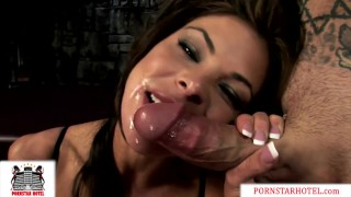 Cock Crazed Hunter Bryce Pounded by Huge Cock til her Pussy Squirts!