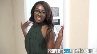 PropertySex - Smoking hot black real estate agent surprises client