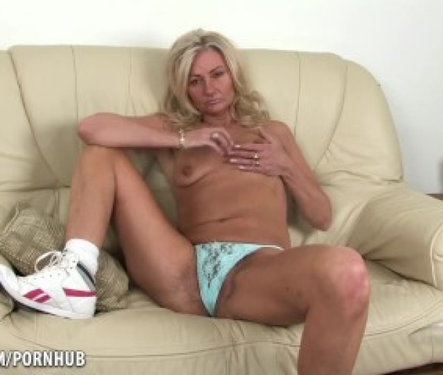 Mature Hairy Blonde Goes For A Walk And Talks Dirty