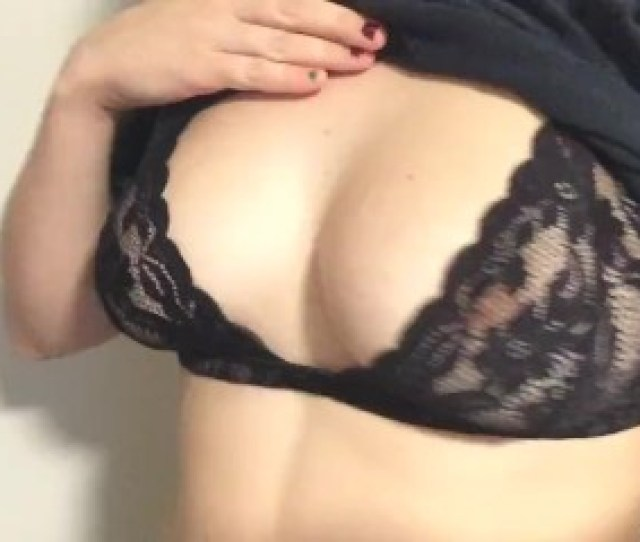 Quick Tease Playing With My D Cup Tits