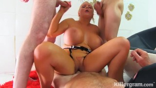 Killergram Huge Boobs Jordan Pryce in a hardcore gangbang