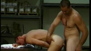 Warehouse Muscled Men Ass Fucking