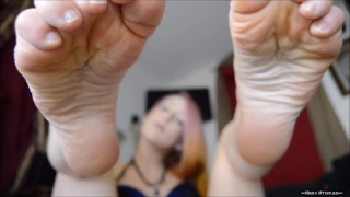 "Full Length Video:""Barefoot JOI stop start game with close focus"""