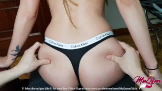 Just Sit down, Let Me Fuck you 5 Minutes using my Calvin Klein Thong