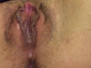 Swollen edged cunt finally cums