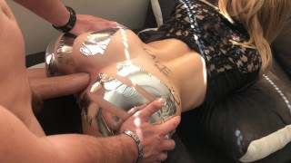 ANAL GAPE CHALLENGE ` Sis loves Huge Cock in ASS -