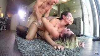 SinsLife - Kissa Sins & Katrina Jade, Pussy and Cock Whores Dual CreamPies!