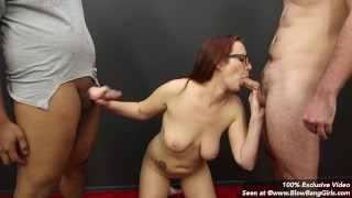 College Girl Blowbangs and Takes on BBC Gets 6 Facials