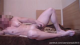 My masturbation after GYM - NAKED FEMALE BODYBUILDER