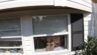 Must Watch!!! Sexy wet milf caught by mailwoman having a dildo orgasm!! :)