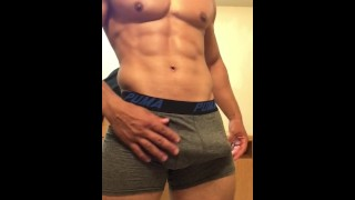 Sexy stud jerking off until he cums