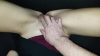 Pussy play and lots of orgasms for my sub until she begs me to stop