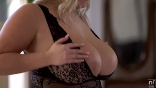 FAT BUSTY TEEN  |  HOT BLONDE FUCKING NATURAL TITS & WET PUSSY