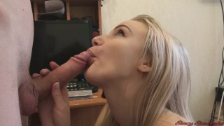Cute Blowjob From Teen Girl Stacy | Cum in Mouth & Swallow