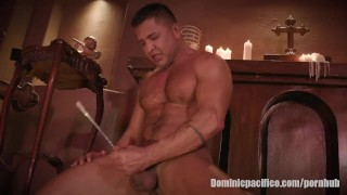 "Dominic Pacifico is a Priest ""Possessed"" and Sounding His Big Cock"
