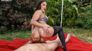 Busty MILF Sheena Ryder Cheats On Her Husband Outdoors With Young Stud