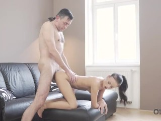 OLD4K. Hot sex of skinny girl and old man culminates with cumshot