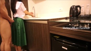 Pinay Scandal - Pinay Shs Student Fucking In The Kitchen