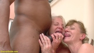 71 and 82 years old grannies interracial anal banged