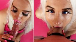 Bimbo Deepthroat POV - Facial Huge Load