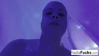Nadia White masturbating in the shower
