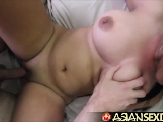 Asian Sex Diary – Asian big boobed sluts gets white cock
