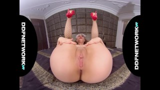 French VR maid Lena Reif rides your big hard boner in POV hardcore porn