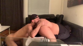 Fat Ass Gets Eaten and Fucked Raw