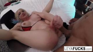 Hardcore Anal Interracial fucking with Leya Falcon