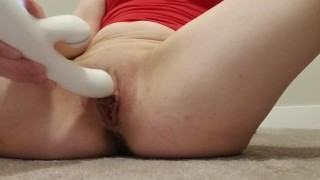 Horny Little Slut Home alone, Fucks Herself with Toy