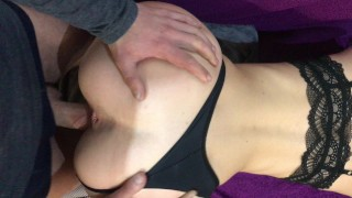 Deep hard anal pleasure with huge dick for my girl mate