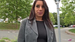 GERMAN SCOUT - SAGGY TITS TEEN SEDUCE TO FUCK AT STREET CASTING IN GERMANY