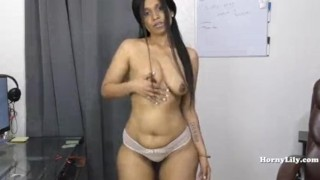 Indian girl playing with pussy