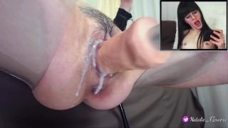 Sex machine Fucking My Creamy Pussy,When I Watching Porn