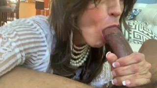 Glamgurlxoxo: BBC shoots creamy load in sexy CD's mouth