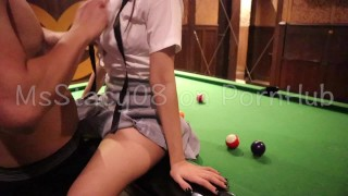 Pinay Teen Student Gets Fucked on the Rooftop Billiard