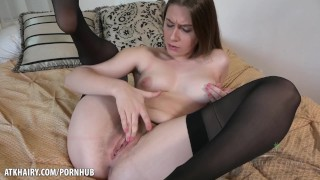 Smoking hot Niki Snow teases hairy bush