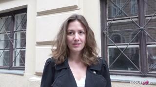 GERMAN SCOUT - Schlankes Teen Alessandra bei Strassen Casting gefickt