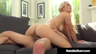Sexy Blonde Natalia Starr Gets Shot With H20 & Hot Sperm!