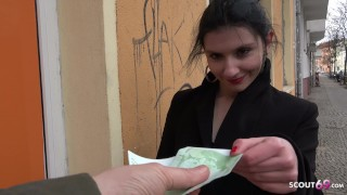 GERMAN SCOUT - ART STUDENT COLLEGE TEEN TALK TO ANAL AT STREET CASTING