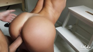 Gorgeous GFtakes care of her BFand gets cum all over her! - LeoLulu
