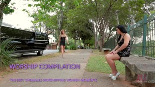 SHEMALEs WORSHIPPING WOMENS COMPILATION