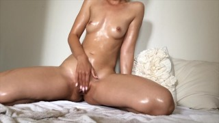 Oiled Up Ride With Creamy Squirting Orgasm
