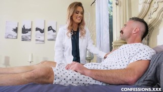Tattooed Nurse With Big Tits Is Horny And Wants To Fuck Her Patient