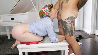 MYLFDOM - Hot Ginger Milf Gets Hardcore Fucking From Stepson