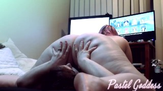 BBW Gamer Girl Farting and Smothering with Pussy Worship - Pastel Goddess