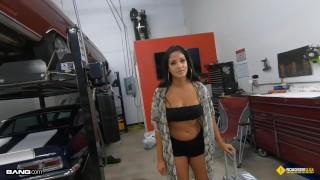 Roadside - Thick Latina Stripper Fucks The Mechanic