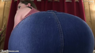 Stepmom farts on your face, while you jerk off
